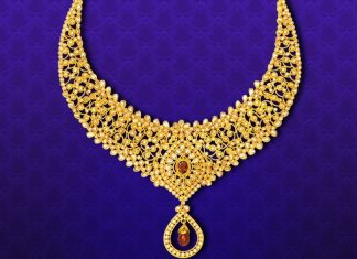 Gold Stone Necklace From GRT