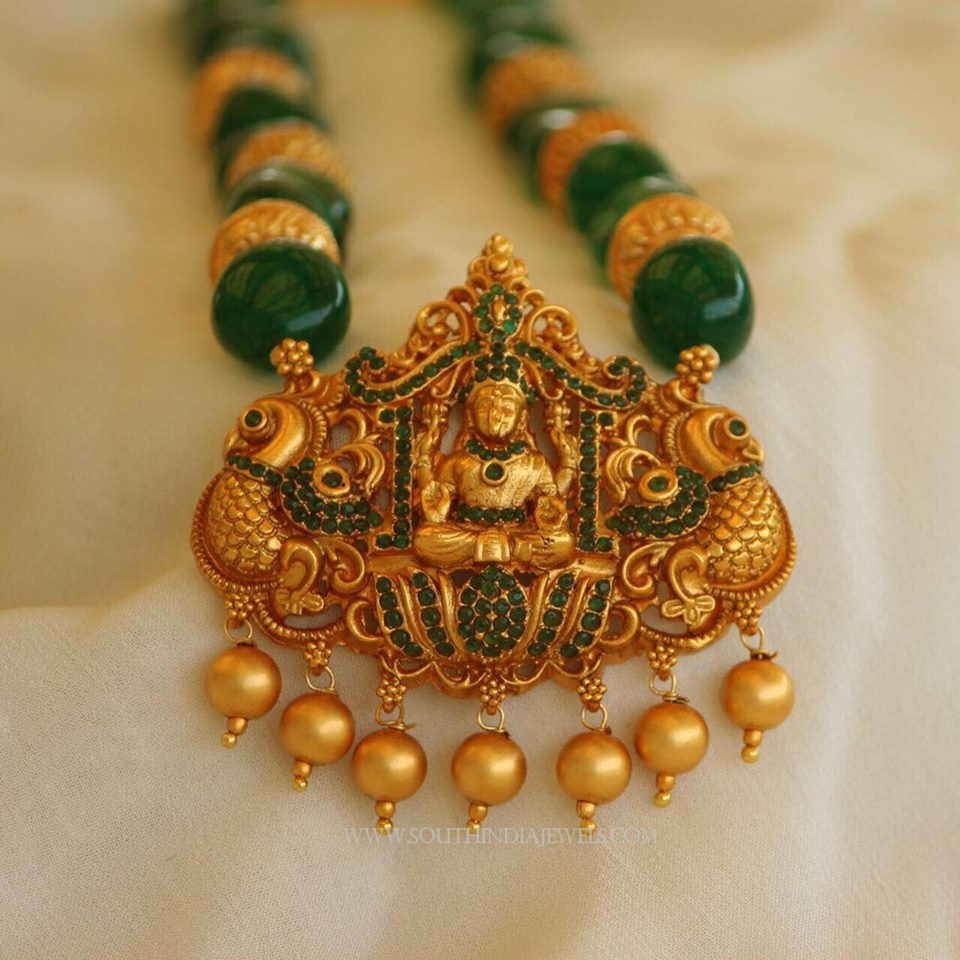Green Temple Jewellery Necklace from Aatman