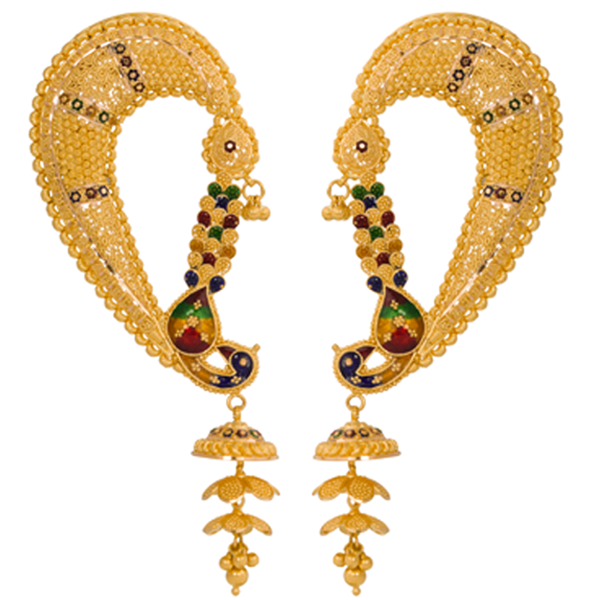 lalitha jewellery gold earrings collections
