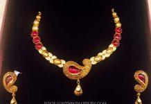 Simple Designer Ruby Necklace By K.N Jewellers