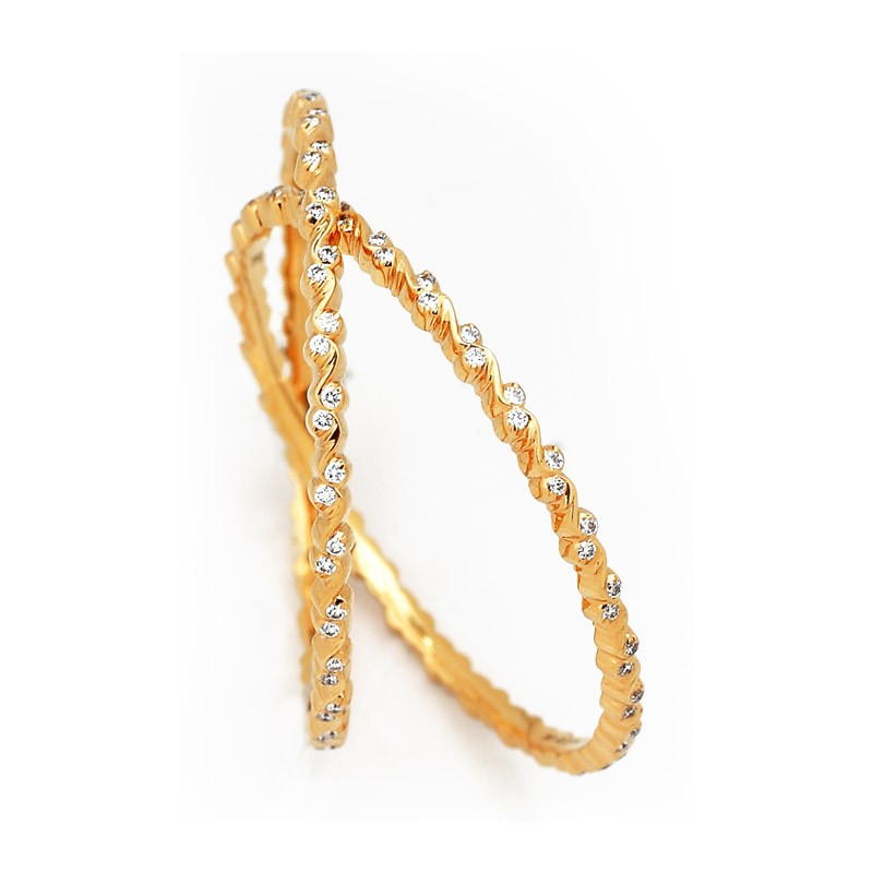 Single Line Diamond Bangles Designs