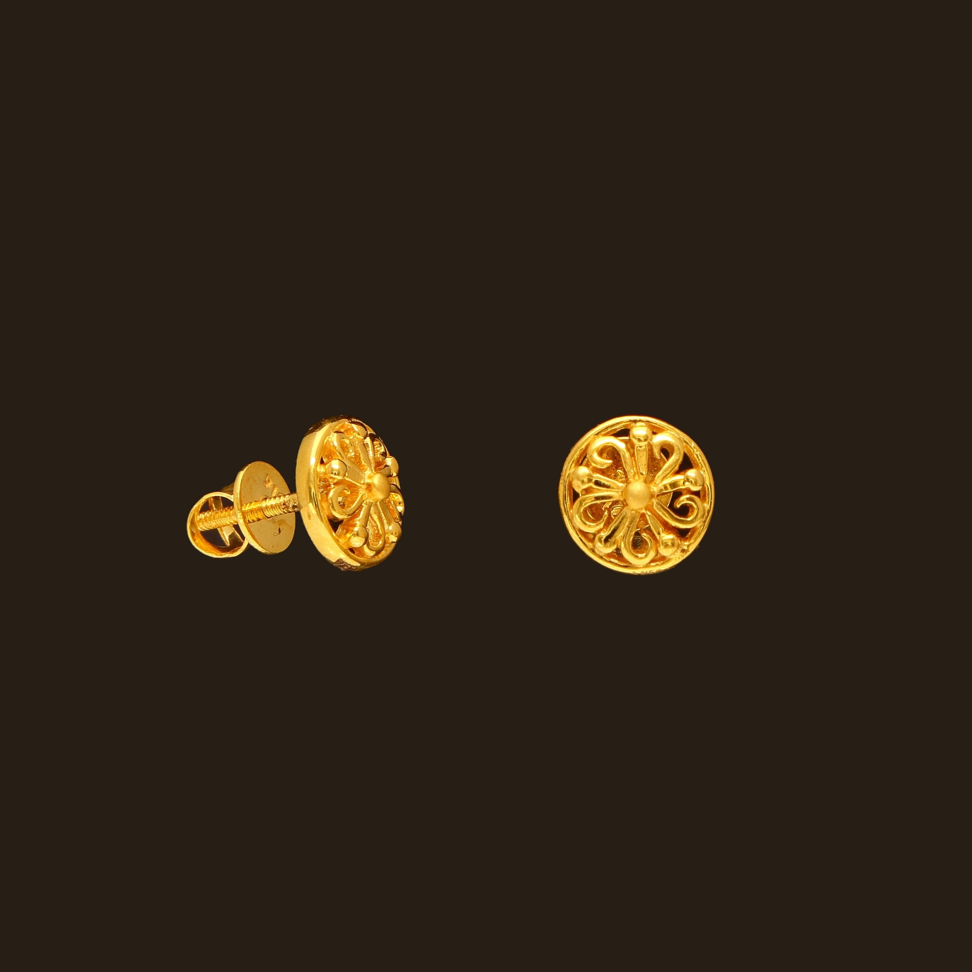 small gold earrings designs south india jewels