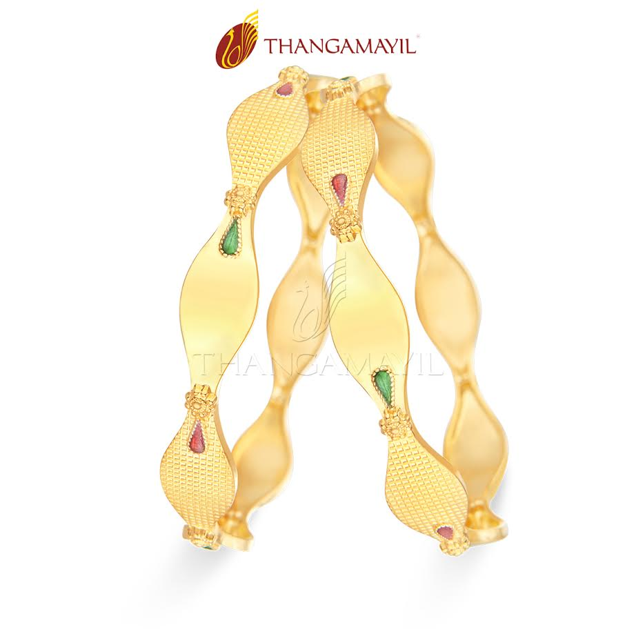 22K Daily Wear Bangle From Thangamayil Jewellery