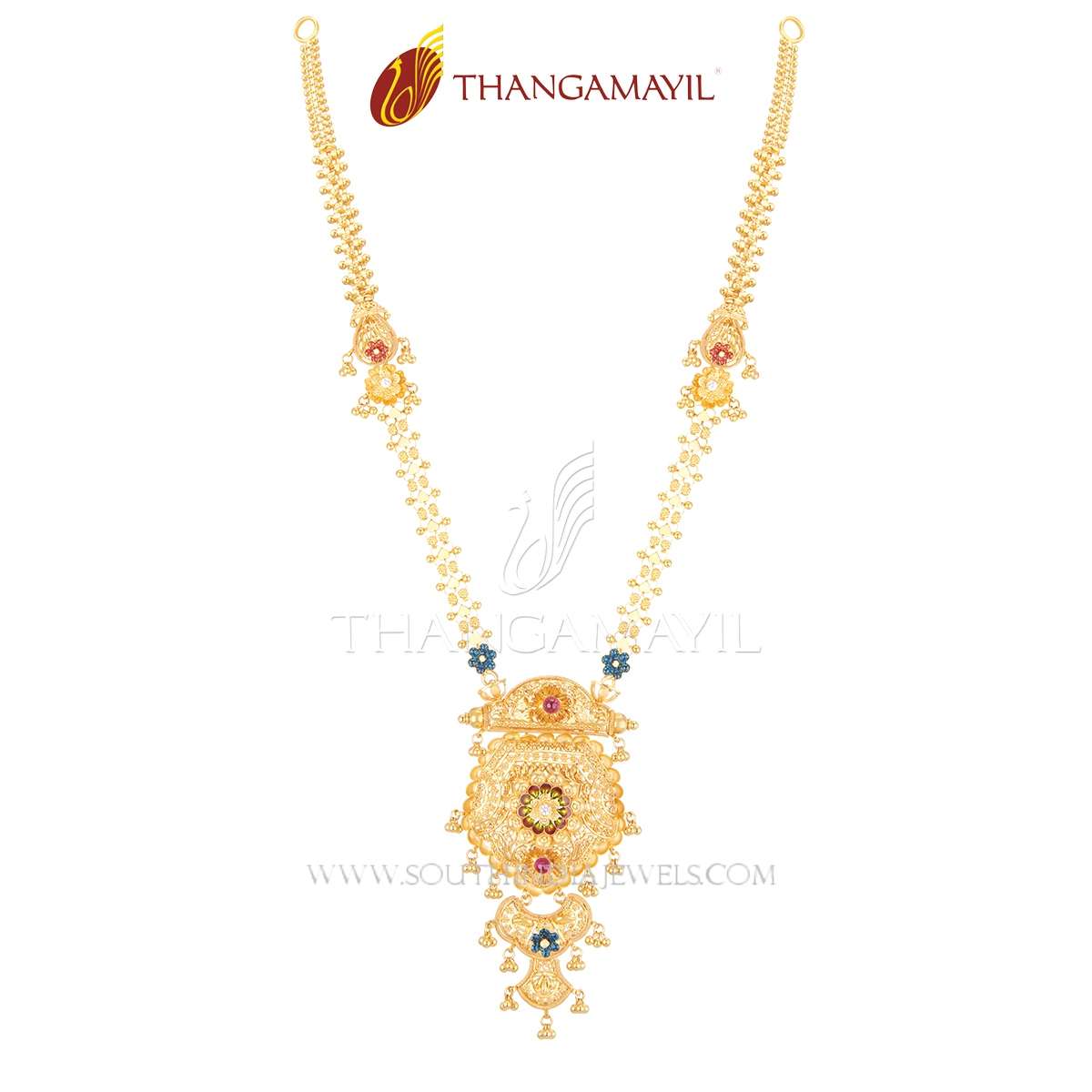 Latest Long Haram Fromm Thangamayil Jewellery