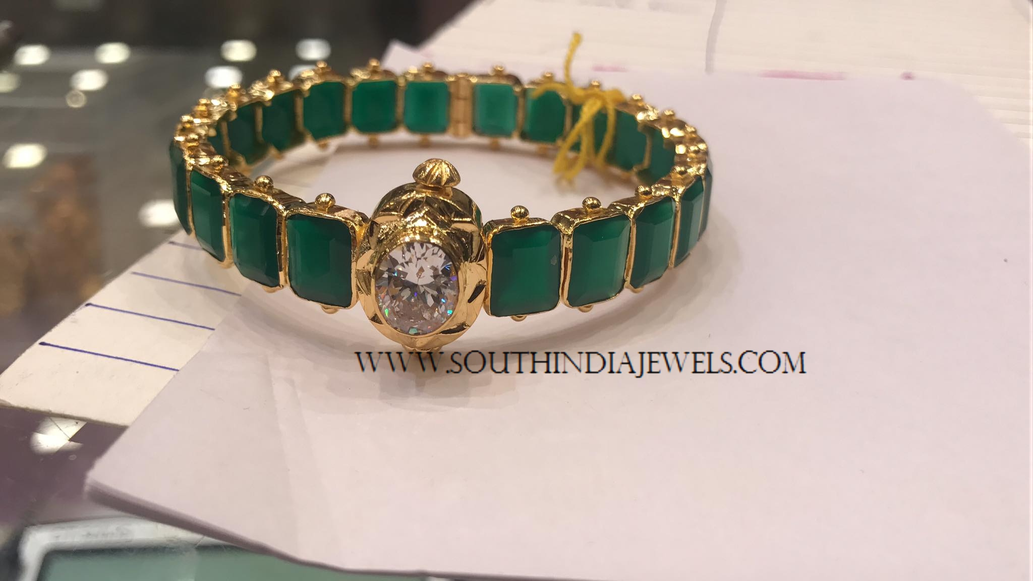 south bangles emerald jewels india gold
