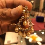 Gold Chandbali Earrings Design With Weight