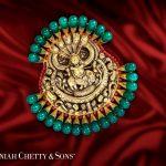 22K Gold Antique Krishna Pendant Model