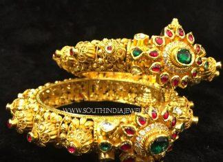 Bold Gold Kappu Style Bangles
