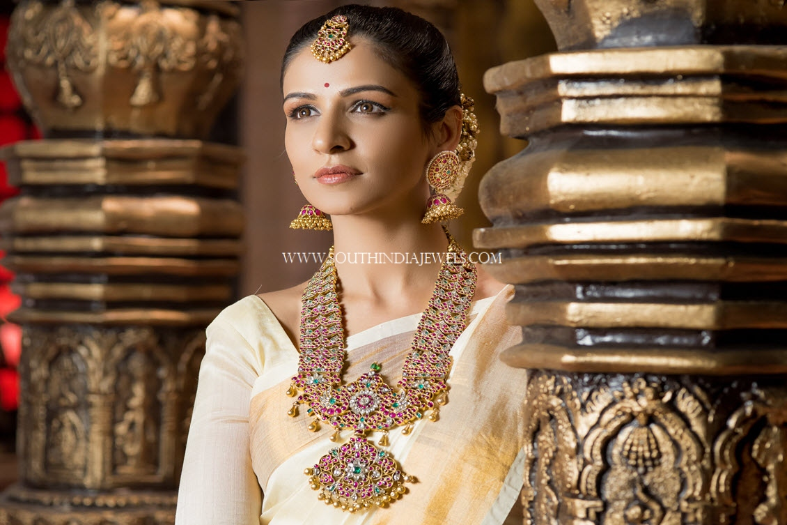 Bold Gold Bridal Ruby Haram