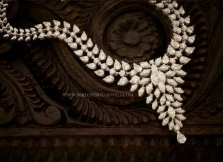 Designer Diamond Necklace From Aabushan Jewellery