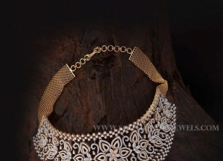 Diamond Choker Necklace From Aabushan Jewellery