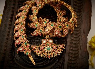 Gold Antique Mango Necklace From Aabushan Jewellery