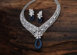 Gold Designer Diamond Necklace With Price Details