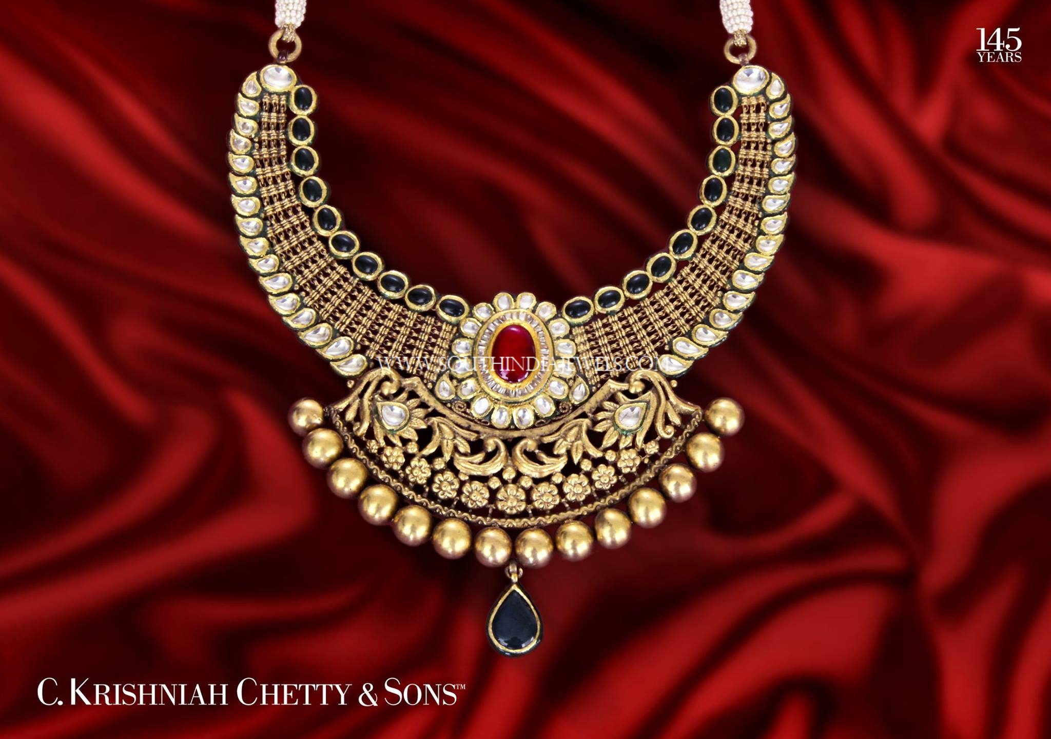 Gold Antique Polki Necklace