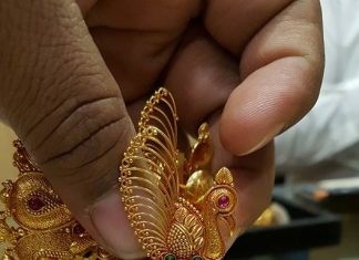 Gorgeous Gold Peacock Jhumka