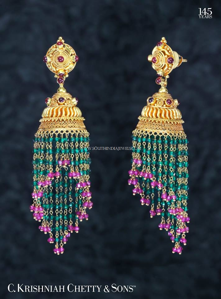 Gold Ruby Emerald Buttalu Design