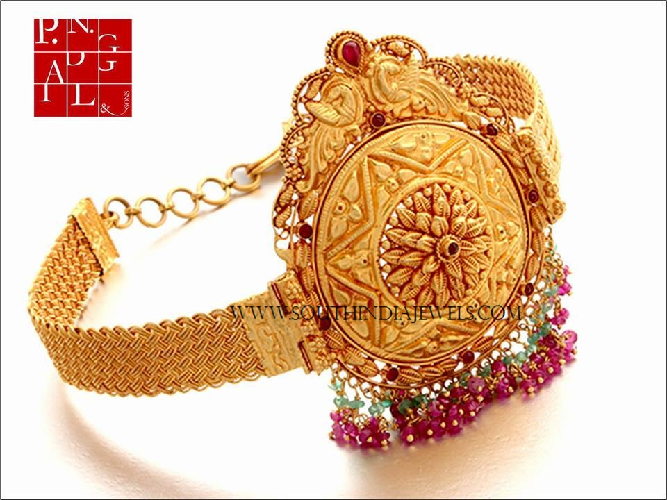 Gold Antique Arm Band Design