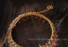 Gold Antique Mango Mala From Aabushan Jewellery