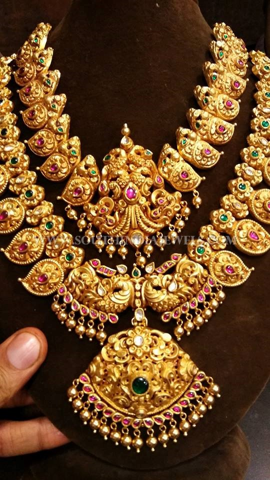 bridal gold antique jewellery set south india jewels