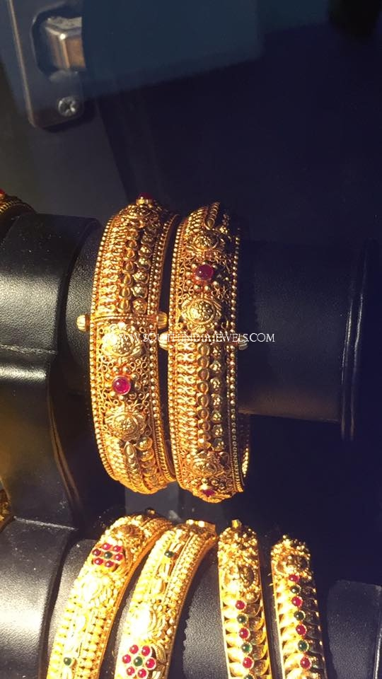 Gold Adjustable Antique Bangle Collections
