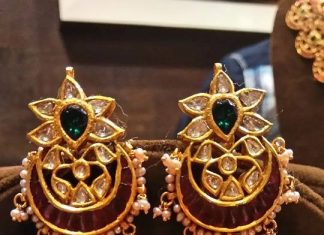 Bold Gold Antique Jhumka Model