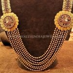 Gold Antique Temple Ball Haram Design