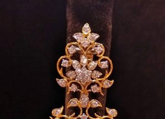 Big Gold Diamond Earrings