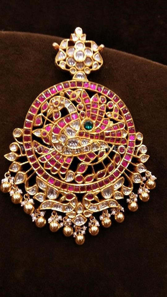 Gold Kemp Peacock Pendant