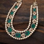 Gold Pearl Diamond Necklace With Price