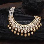 Gold Pearl Polki Haar Design