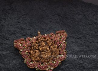 Gold Ruby Lakshmi Pendant With Price