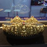 Gold Temple Vadanam and Armlet Set
