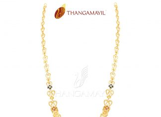 Light Weight Gold Enamel Necklace