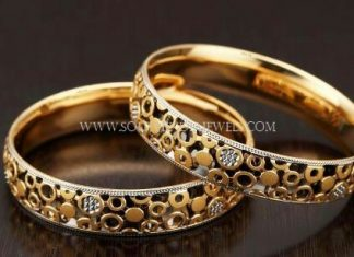 Matt Finish Gold Designer Bangle