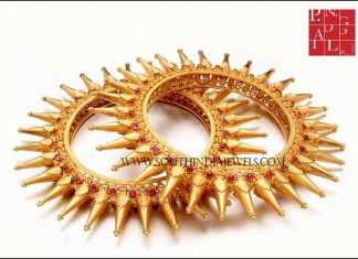 Traditional Gold Spike Bangle Design