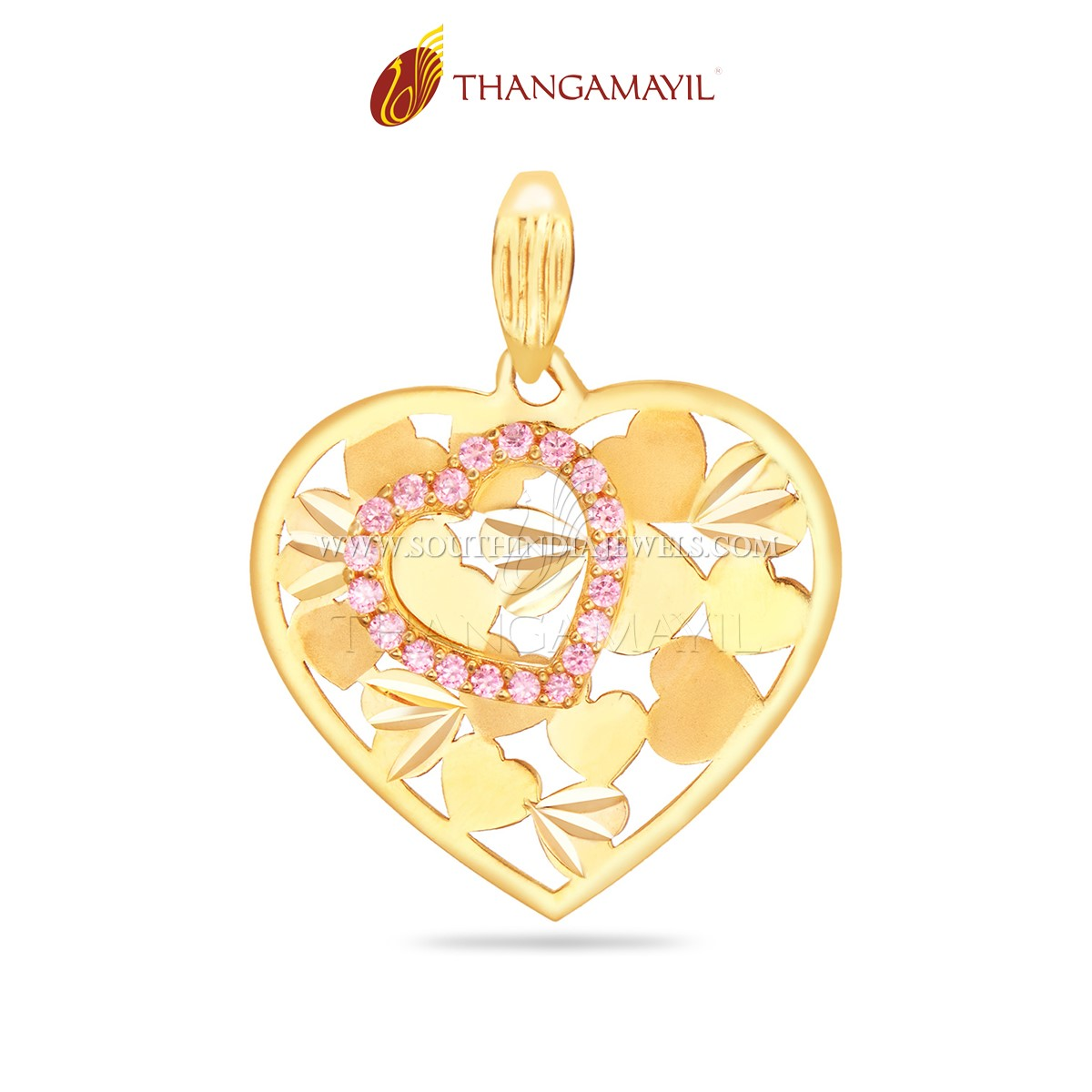 Gold Artin Pendant From Thanamayil Jewellery