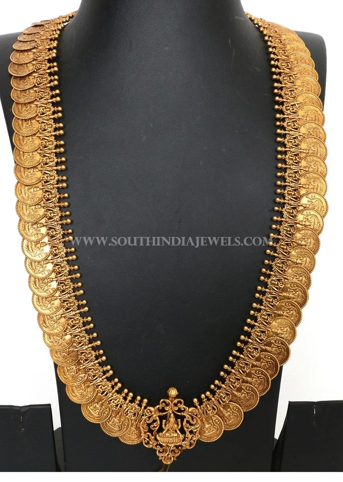 300 Grams Gold Long Lakshmi Kasumalai Necklace