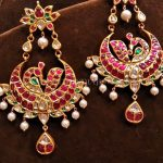 Beautiful Gold Antique Ruby Earrings