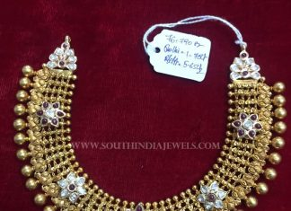 Gold Antique Choker From Balaji Gems & Jewellery