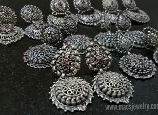 Silver Temple Earrings Designs From MACS Jewelry