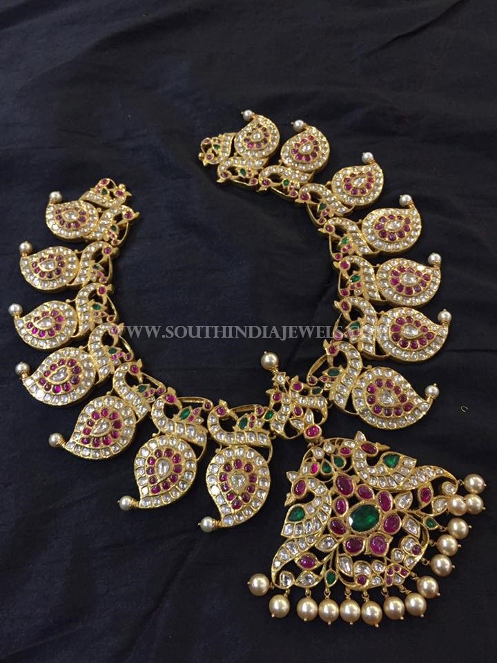 Antique Gold Mango Necklace From Big Shop