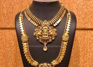 Gold Bridal Temple Jewellery Set