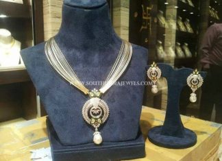 Designer Necklace Set With Earrings From CMR Jewels