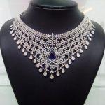 Diamond Choker With Sapphire Stone