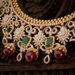 Diamond Necklace With Rubies & Emearlds