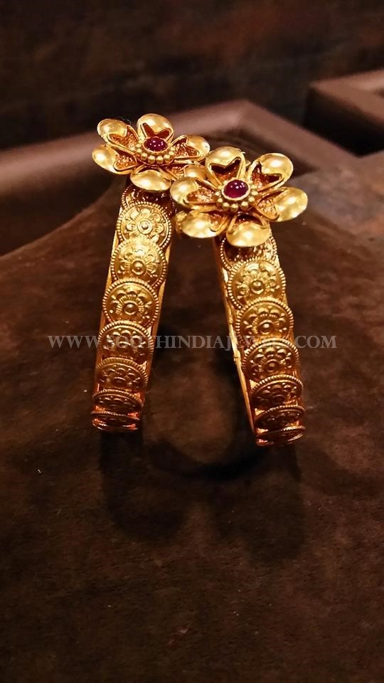 Gorgeous Gold Antique Coin Bangle Model