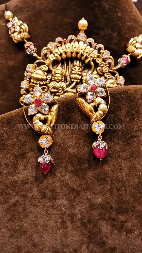 Gold Antique Diamond Ear Studs
