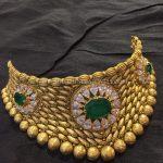 Gold Antique Emerald Choker From Big Shop