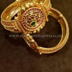Gold Antique Kemp Kada Bangle Design