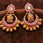 Gold Kemp Ruby Chandbali Designs